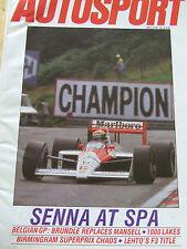 AUTOSPORT MAGAZINE SEP 1988 SENNA AT SPA BRUNDLE REPLACES MANSELL LEHTO F2 TITLE