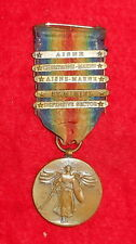U.S. Ww1 Victory Medal With 5 Bars