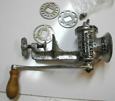 Vintage Eveready Food Chopper Grinder No. 55 with USA Wood Handle