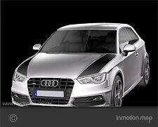 Bonnet-Stripes f. Audi A3 8V Motorhaube Streifen RS3 S-line sline Stripes Decal