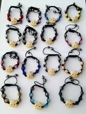 CHILDS SHAMBALLA SPARKLY HELLO KITTY  BRACELET-CZECH CRYSTALS-16 DIFFERENT COLOR