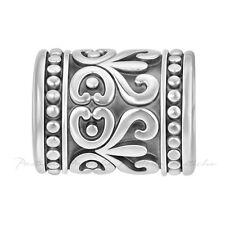 Lovelinks Bead Sterling Silver, Scroll Design Center & Dots At Ends Charm TT606