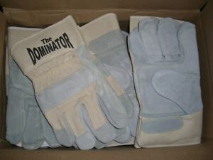pair DOMINATOR Industrial Heavy Duty Safety Work Gloves Size LARGE L
