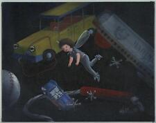 New listing BOY FAIRY MARINE HOHNER HARMONICA JACKS BASEBALL TOYS CAR GAME OIL ART PAINTING