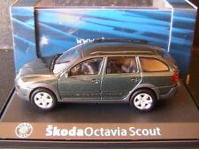 SKODA OCTAVIA COMBI SCOUT 2 HIGHLAND GREEN METAL 2007 ABREX 143AB011HL 1/43 SW