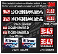 Stickers-adhesivos-pegatinas-adesivi-aufkleber-autocollants-YOSHIMURA SUZUKI GP