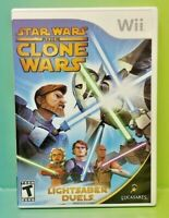 Star Wars Clone Wars - Nintendo Wii Game Complete 1 Owner Mint Disc 1-2 players
