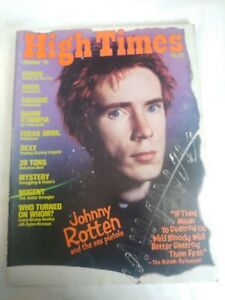 High Times Magazine October 1977 Johnny Rotten & The Sex Pistols