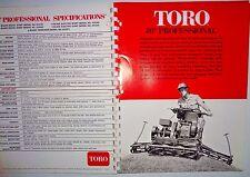 Toro Poulan Sales Catalog Manual Brochure 1976 Full Line Mower Chainsaw Tiller&&