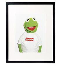 Supreme X Kermit skateboard hype Urban CANVAS Street Poster Print Graffiti