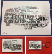 The A-Team Van Colour Word Art Unique Gift ~ A4 Poster / Fridge Magnet / Keyring