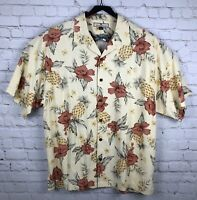 Tommy Bahama Hawaiian Camp Shirt size XL short sleeve Silk Men's Floral
