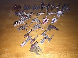 Star Wars X-Wing Miniatures Game Lot X21 Tie defender Mist Hunter Interceptor E