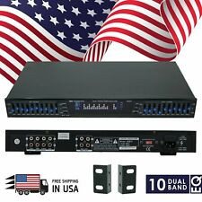 New EMB EQB75s19'' Rack Mount Dual 10 Band 4 Input Stereo Spectrum Equalizer