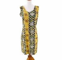 Vintage Jams World Womens Sleeveless Hawaiian Floral Print Sheath Dress Size XS