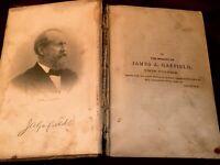 Antique 1881 Life of President James Garfield, W R Balch,  Hubbard - 1st edition