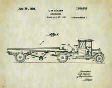 Semi Truck Patent Poster Art Print  Peterbilt Mack Toys Parts Vintage  PAT301