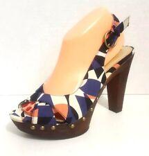 Xhilaration Women Size 9.5 Platform Stained Glass Pattern Stud Open Toe Sandals