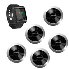 SINGCALL Wireless Restaurant Calling Waiter System 1 Watch, 5 Pagers APE320S