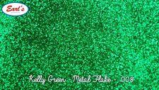 "100g Kelly Green metal flake paint standard size .008"", hotrod, custom, glitter"