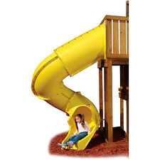 Playground Tube Slide Backyard Twist Tunnel Set Kids Outdoor Deck Fun Play Swing
