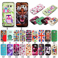 For Samsung Galaxy S6 Edge Rubber TPU Silicone Gel Pattern Phone Case Cover