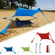 Family Beach Lightweight Sun Shade Tent Sandbags Anchor 4 Pegs Outdoor Canopy
