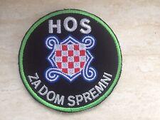 Patch HOS Za dom spremni  Hrvatska Kroatien Biker Croatia Ustasa