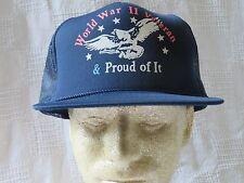 World War II Veteran and Proud of It Snapback Hat Vintage