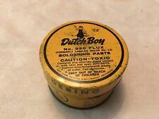 DUTCH BOY Vintage Soldering Paste Tin, 1962
