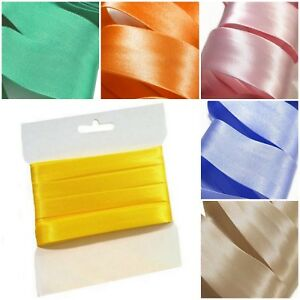 Bias Binding Tape Trim 10M x 15mm 20mm Many Colours Quilting Bunting Sewing