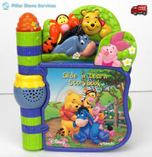 VTECH DISNEY Winnie the Pooh Slide N Learn Storybook Interactive Book Learning !