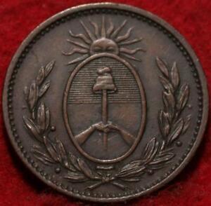 1823 Argentina 1 Decimo Foreign Coin