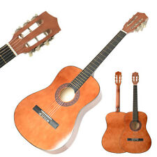New 38 Inch 19 Frets Plywood 6 Strings Acoustic Guitar for Beginner Brown