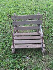 Vintage Wooden Baby Swing