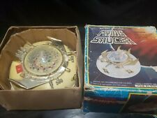Vintage Battery Operated Flying Saucer Toy Lights Up! in Box Rare Aliens 1970s