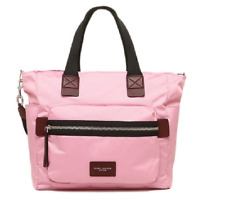 Marc Jacobs Biker Nylon Baby Diaper  Bag Solid Pink Fleur  Handbag $295