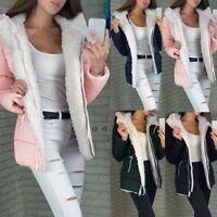 CA Women Winter Sport Thicken Coat Long Sleeve Warm Jacket Outerwear Zipper Coat