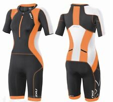 New 2XU Women Compression Sleeved Trisuit Race Train Triathlon Suit  Ink Small
