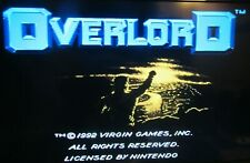 Nintendo Entertainment System Nes: Overlord with sleeve Tested