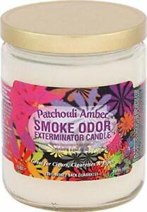 Smoke Odor Exterminator 13 Oz Jar Candle Patchouli Amber (3-Candles)
