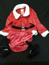 Santa Claus Outfit Baby Halloween Holiday Costume Jacket Boots Panties 18 Months