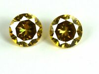 Yellow Sapphire Loose Gemstone Pair 5 Ct Natural Round Cut AGSL Certified 2 Pcs