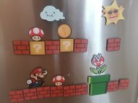 Super Mario Bros piranha plant Acrilic Fridge Magnets 22 Pcs