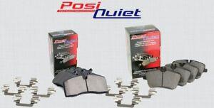 [FRONT + REAR SET] POSI QUIET Ceramic Disc Brake Pads + Hardware Kit PQ99329