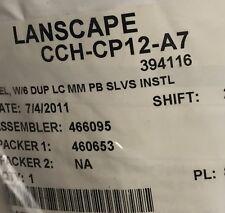 Lanscape cch-cp12-a7 Closet Connector Housing Panel LC adapters Fibre Optics