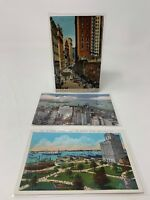 Vintage New York City Post Card Postcard Lot Of 3 NYC NY Woolworth Bldg 18-1632N