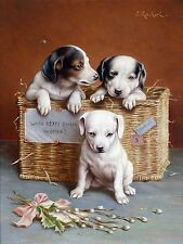 Dog With hearty good wishes Tile Mural Kitchen Bathroom Backsplash Ceramic 6x8