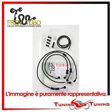TUBI FRENO IN TRECCIA FRENTUBO DUCATI HYPERMOTARD S 1100 2008>2010 GUAINA ROSSA