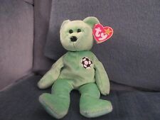"TY BEANIE BABY ""KICKS"" SOCCER BEAR WITH RARE SWING & TUSH TAG ERRORS - MWMT"